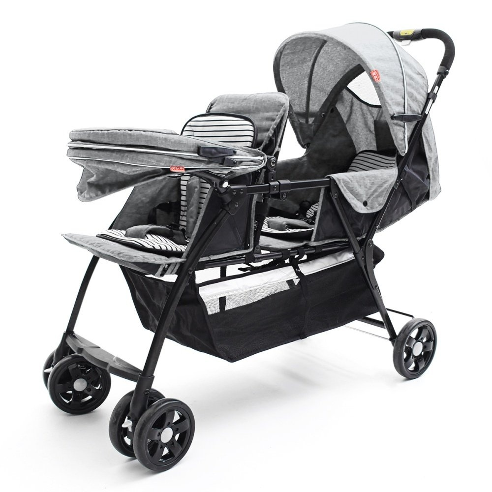 Joie Nitro Babyone Twin Baby Trolleys 2 Flax Material Front And Back Light Aluminum Tube Tandem Car Intl Singapore