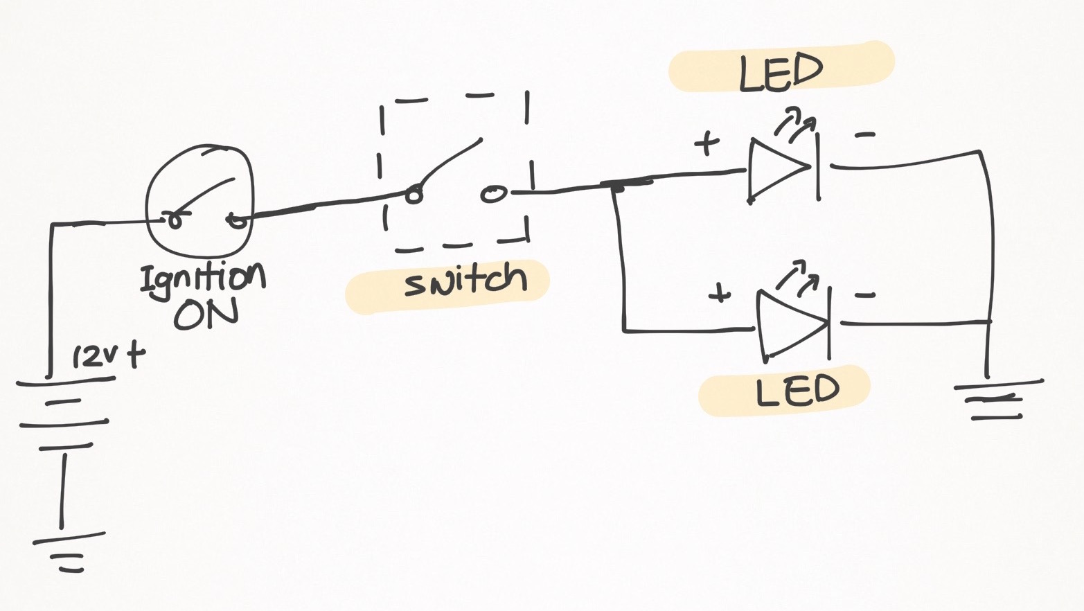 simple wiring diagram fog lamp