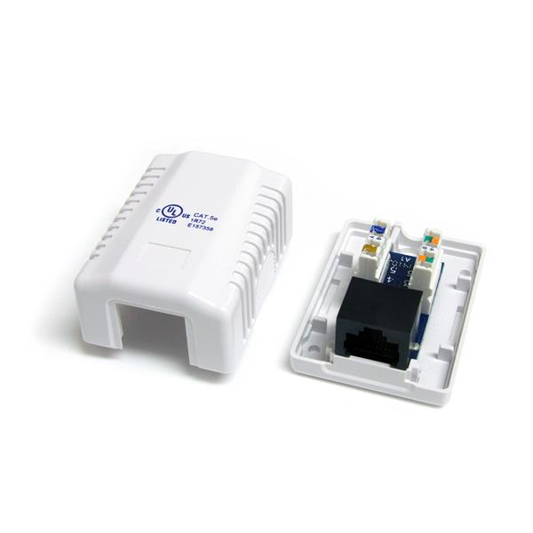 Wall Jack - Cat5e RJ45 White StarTech