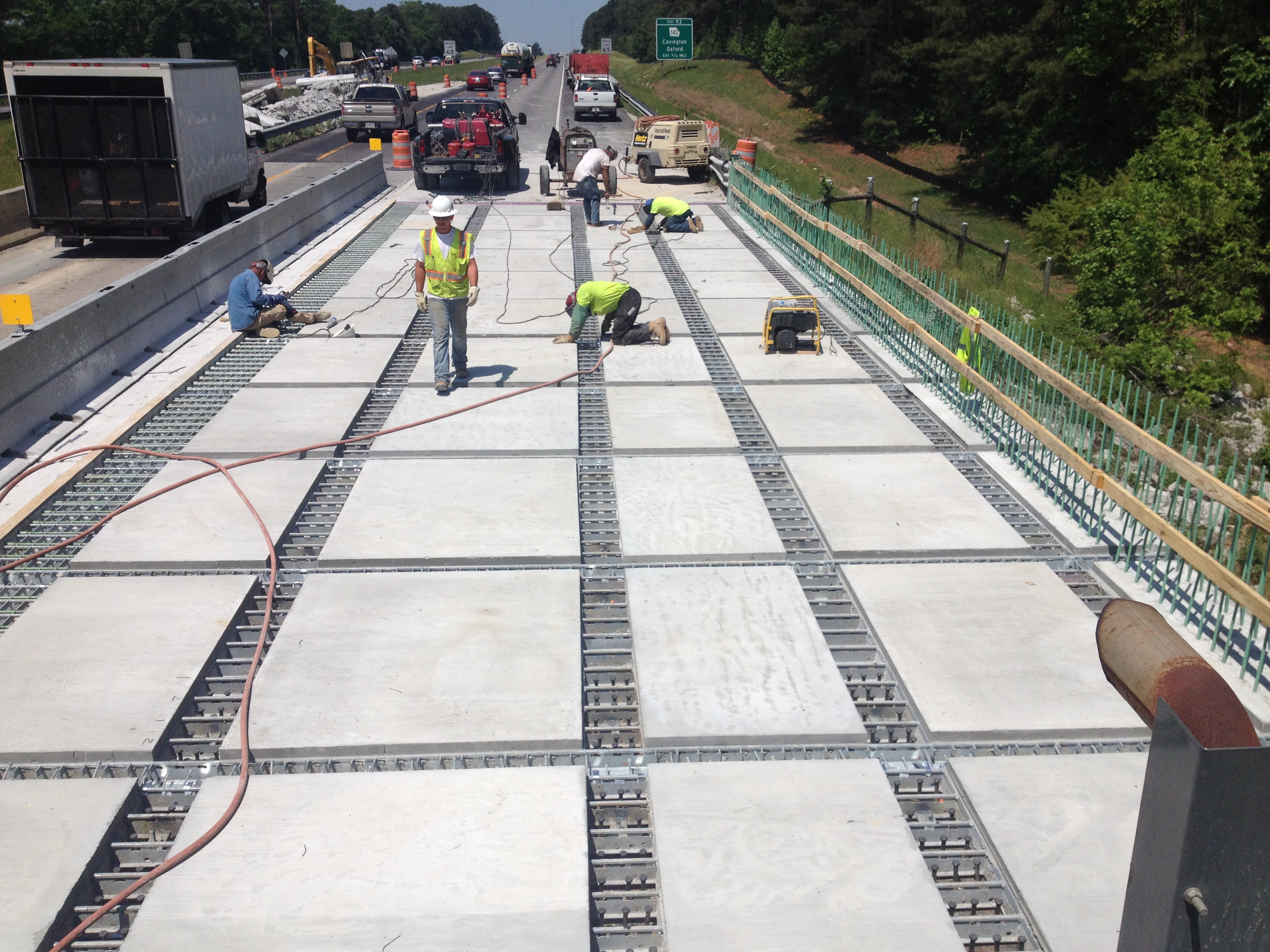 Precast Bridges Georgia Dot Uses Precast Deck Panels To Accelerate Rehabilitation