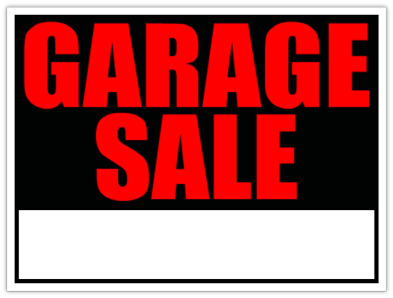 Having a garage sale? Get your free permit online - free for sale signs for cars