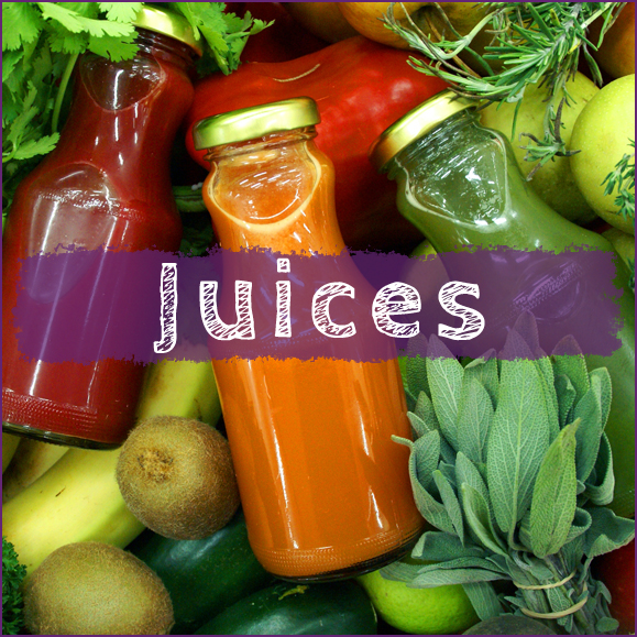 Category - Certified Organic Juices, cold pressed, fresh and longer lasting juices