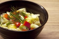 Spring salad with Fennel & Lemon Vinaigrette