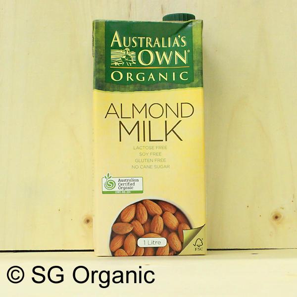 sg organic almond milk