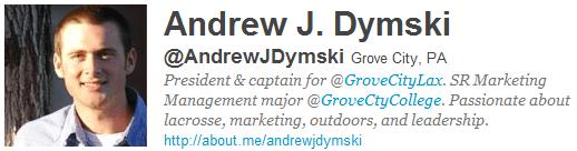 Follow Friday Profile: Andrew J. Dymski