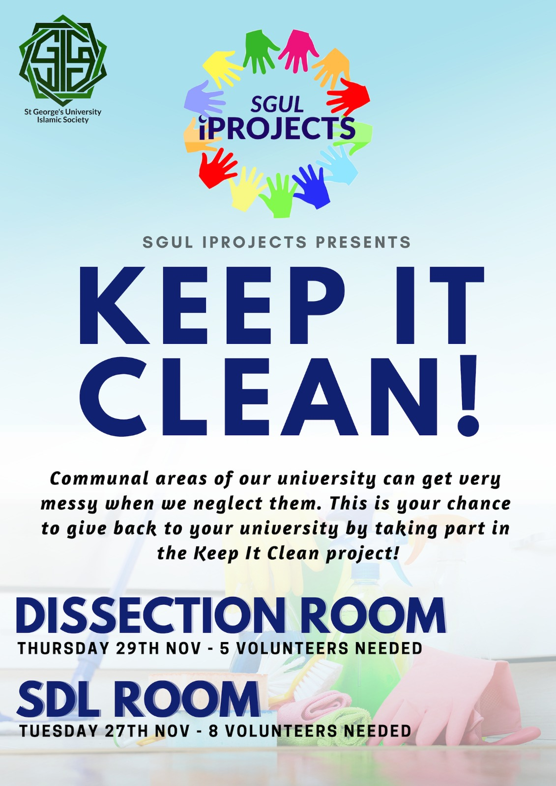 Keep It Clean Iprojects Keep It Clean St George S University Of London Islamic