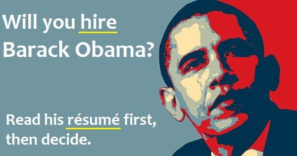 barack obama resume - infographic how to describe favorite tv shows