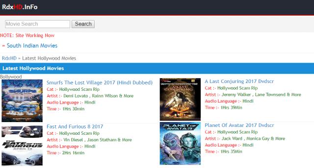 rdx.net hollywood movies in hindi
