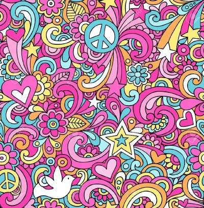 60s Psychedelic Background Free Vector - Supportive Guru
