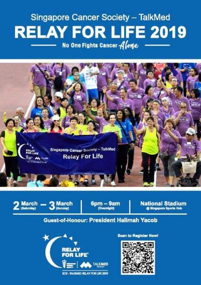 Singapore Cancer Society – TalkMed Relay For Life 2019 ...