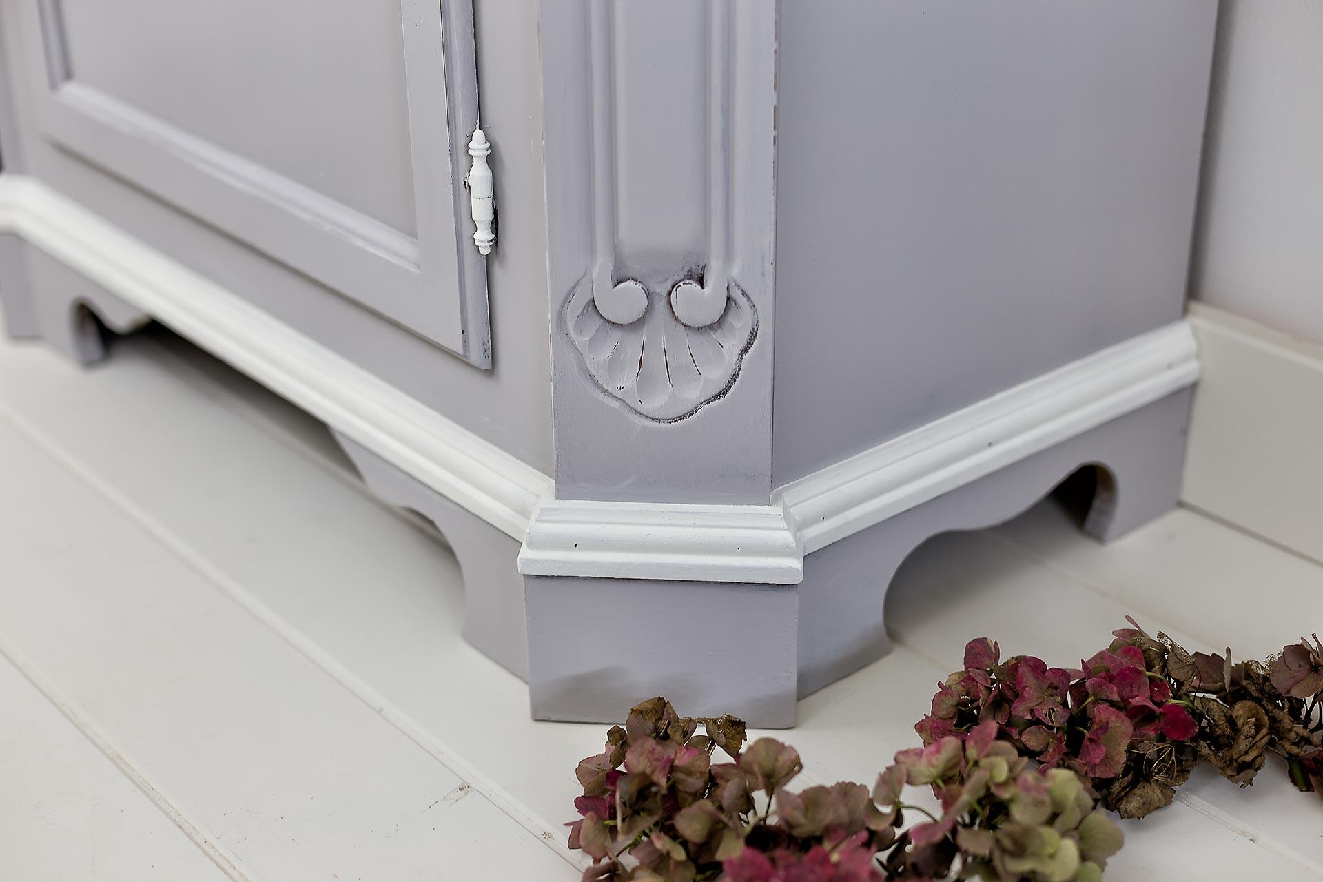 Credenza Ikea Grigia : Soggiorno shabby grigio ikea