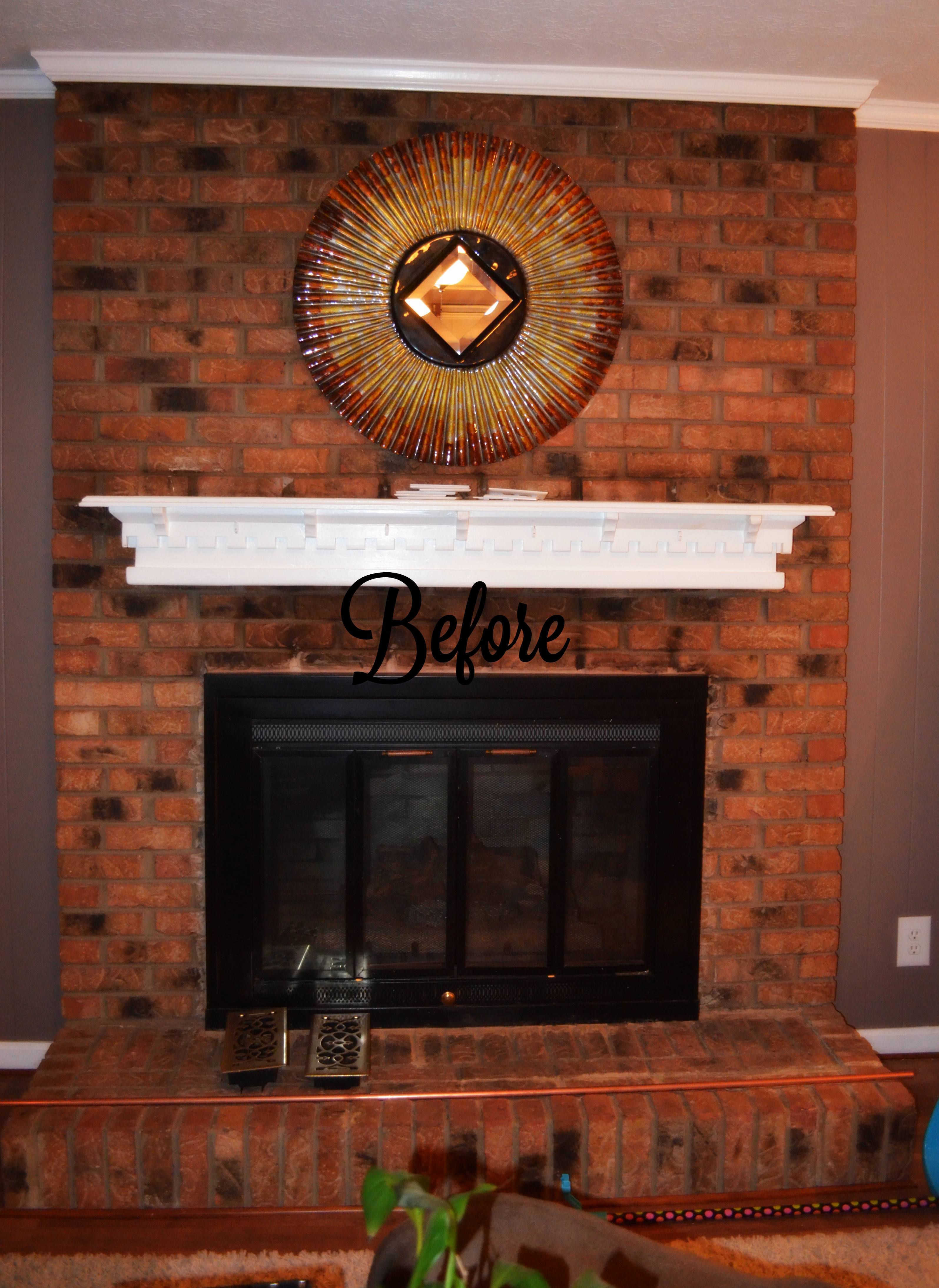 Paint Colors That Go With Red Brick Fireplace Shabby Paints Chalk Acrylic Painted Fireplace Brick