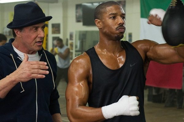 Sylvester Stallone and Michael B. Jordan in movie Creed