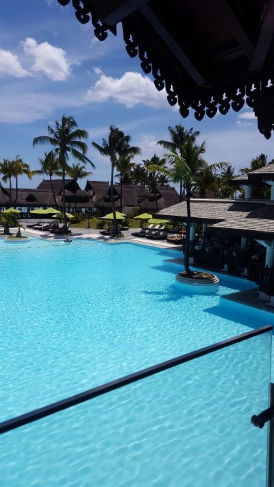 Hotel Pool at Sofitel L'imperial. a little slice of Heaven