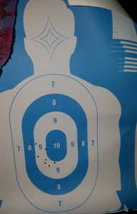 My shooting Target was quite impressive for a first time shooter.