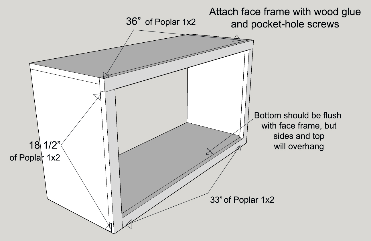 Kitchen Cabinets Face Frame Dimensions How To Build A Custom Cabinet Base For A Bookcase