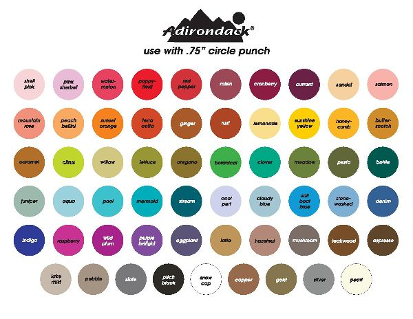 Tim Holtz Alcohol Ink Chart-printable - Shades of Clay