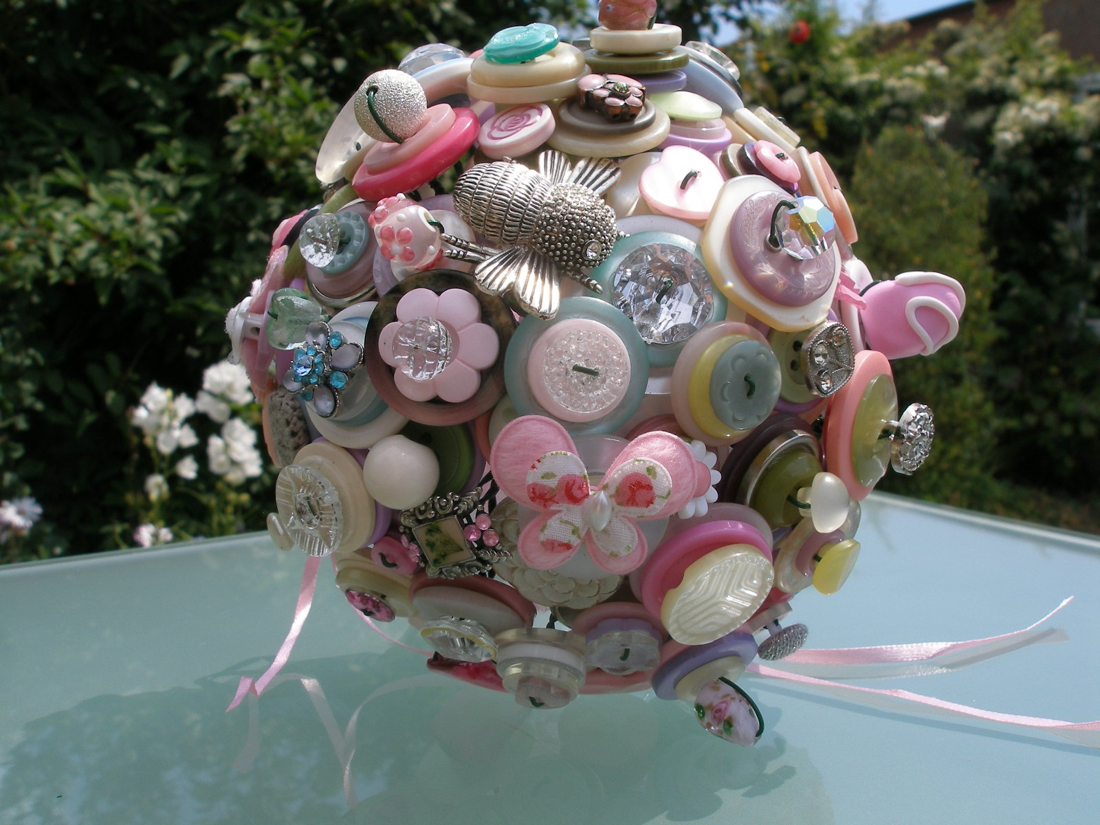 Handmade button bouquets make a unique alternative to ...