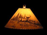 Rustic wildlife lamp shades, bear, moose, elk, whitetail ...