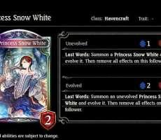 シャドウバース 新カード 白雪姫