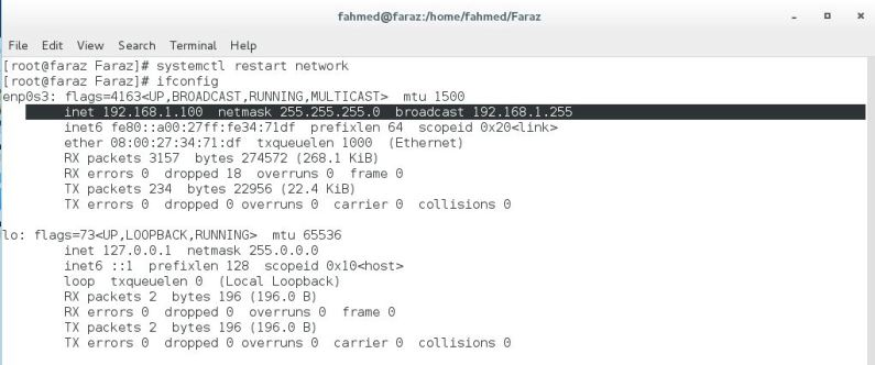 how to see ip address in linux