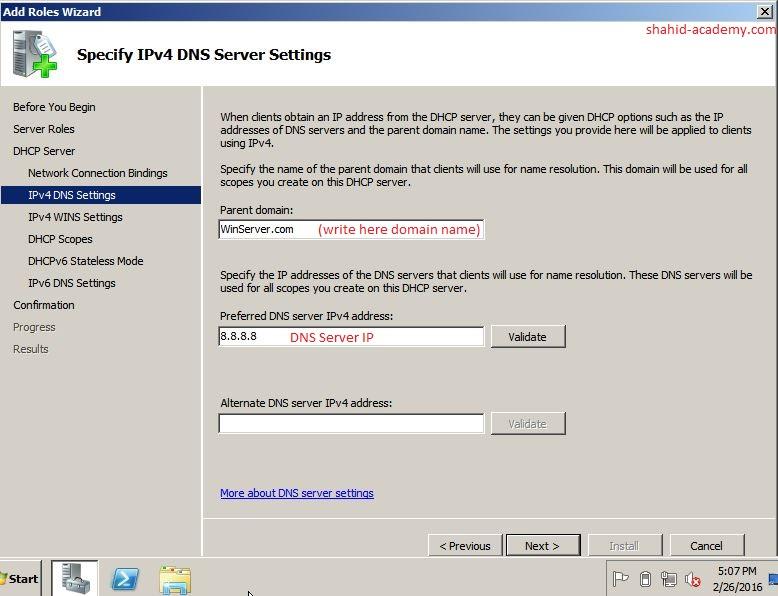 IPV4 DNS Setting