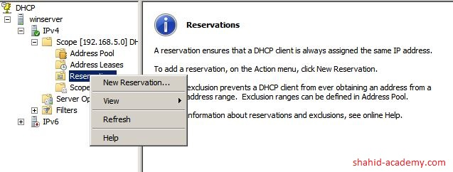 Reservation of IP