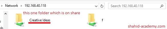 access shared folder