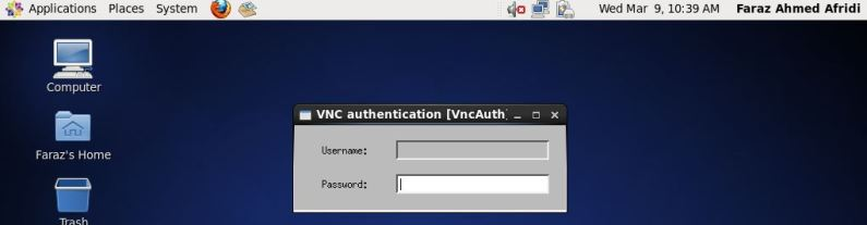 password Vnc user