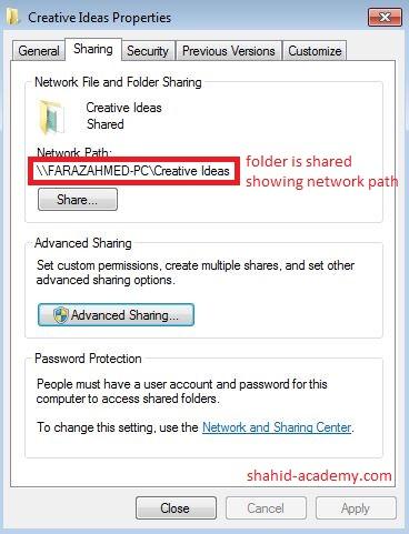 share folder created