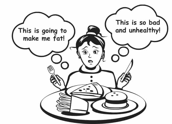 Discarding judgements and labels at meal time