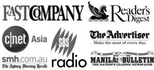Fast Company, The Advertiser, Reader's Digest Australia, and more.