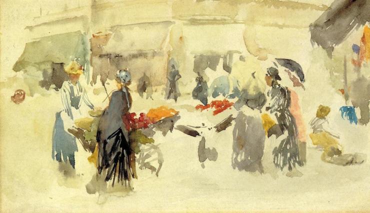 Flower Market - pinturas acuarelas - pinturas en acuarela