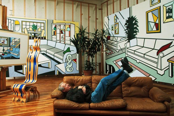 One of the great pioneers of Pop Art at his studio in New York.