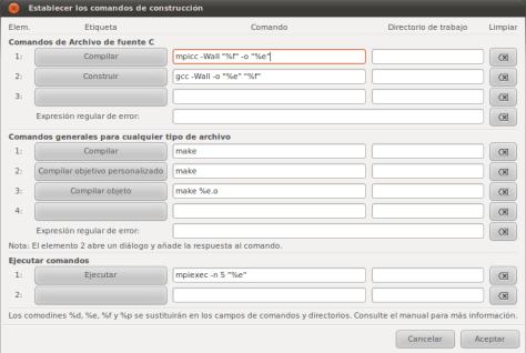 Configuraciones de compilacion