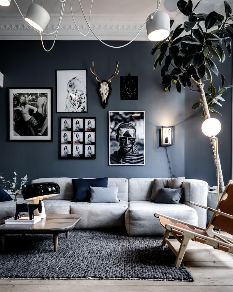 Salon Gris | Idee Deco Salon Design Gris Canape Et Fauteuil Tapis De ...