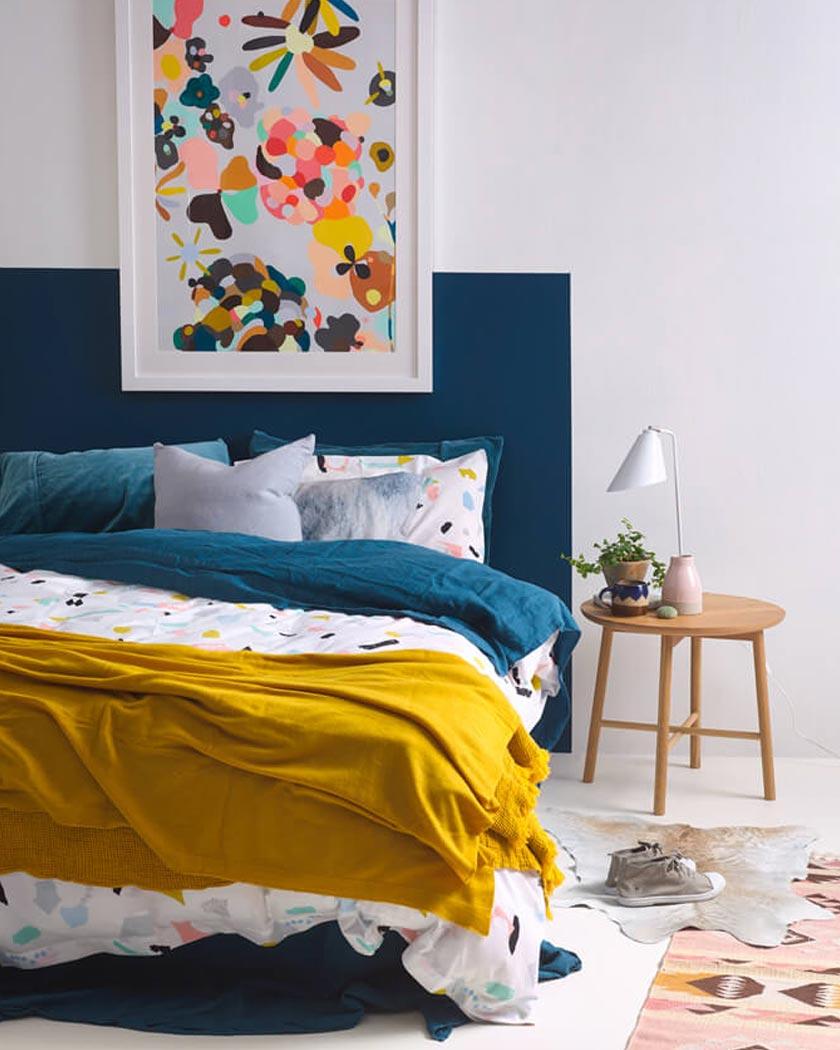 Jaune Moutarde Et Bleu Canard | Citrouille 1 Manuèle