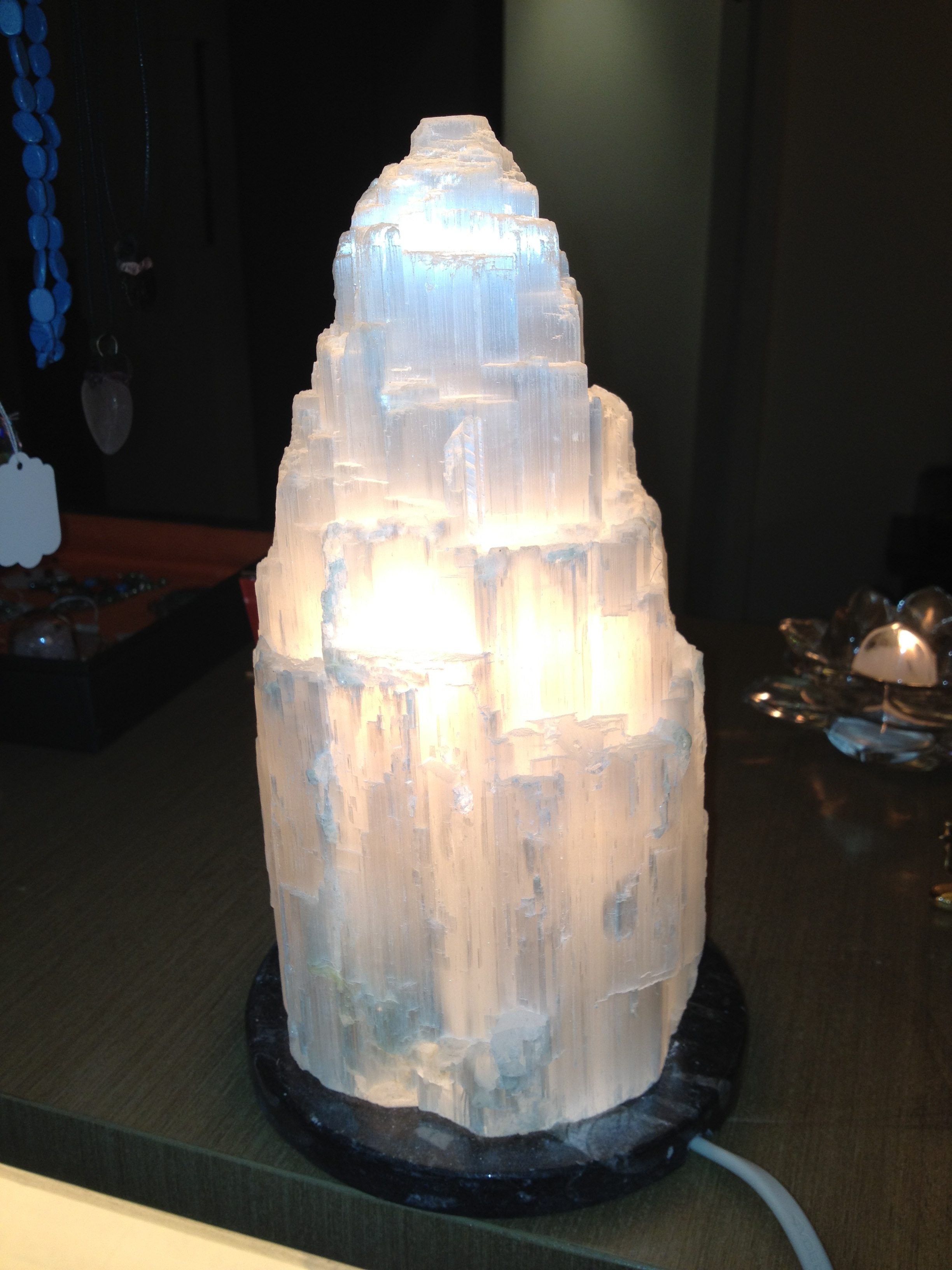 Crystal Stone Lamp Selenite Lamps Shakti Healing Circle