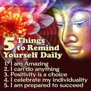 5 things to remind yourself daily - Buddha