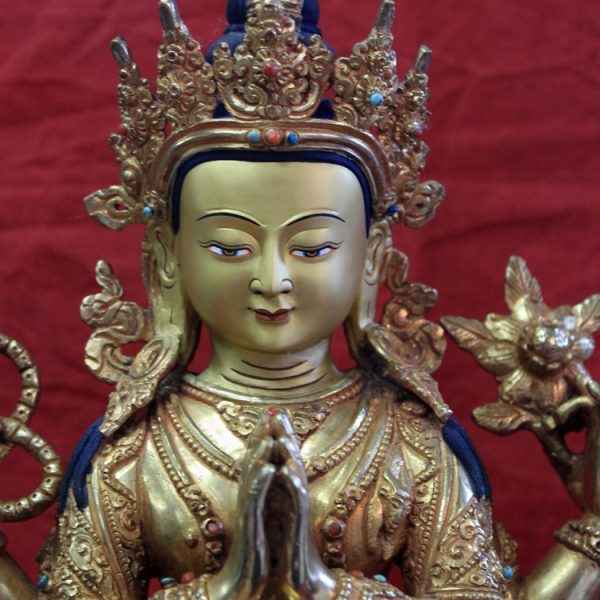 Gold buddha statue for sale-Chenrezig face