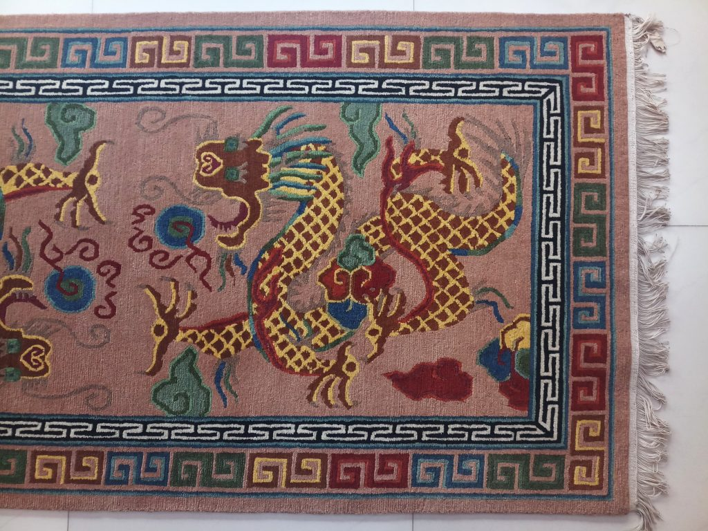 Tibetan Carpet Dragon Design Rug Handmade In Nepal