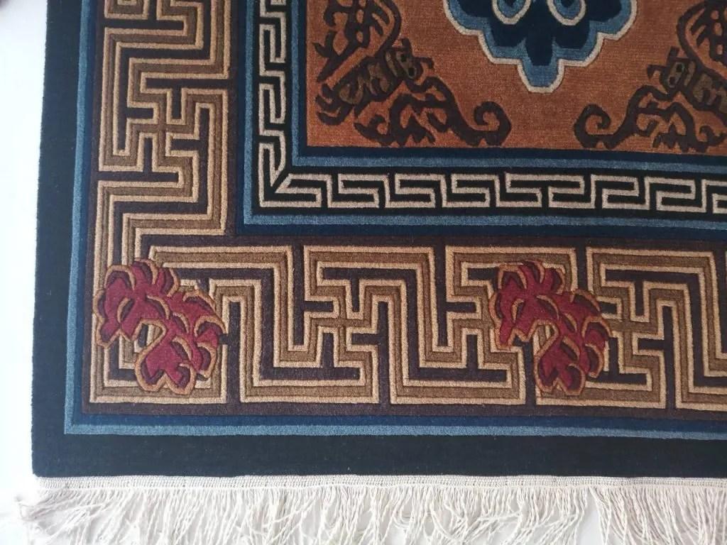 Tibetan Rug Bird Design Carpet Handmade In Nepal Shakya