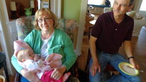 Aunt Annette and Uncle Paul with Fiona
