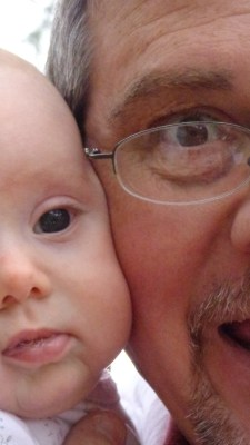Daddy and Fiona half face