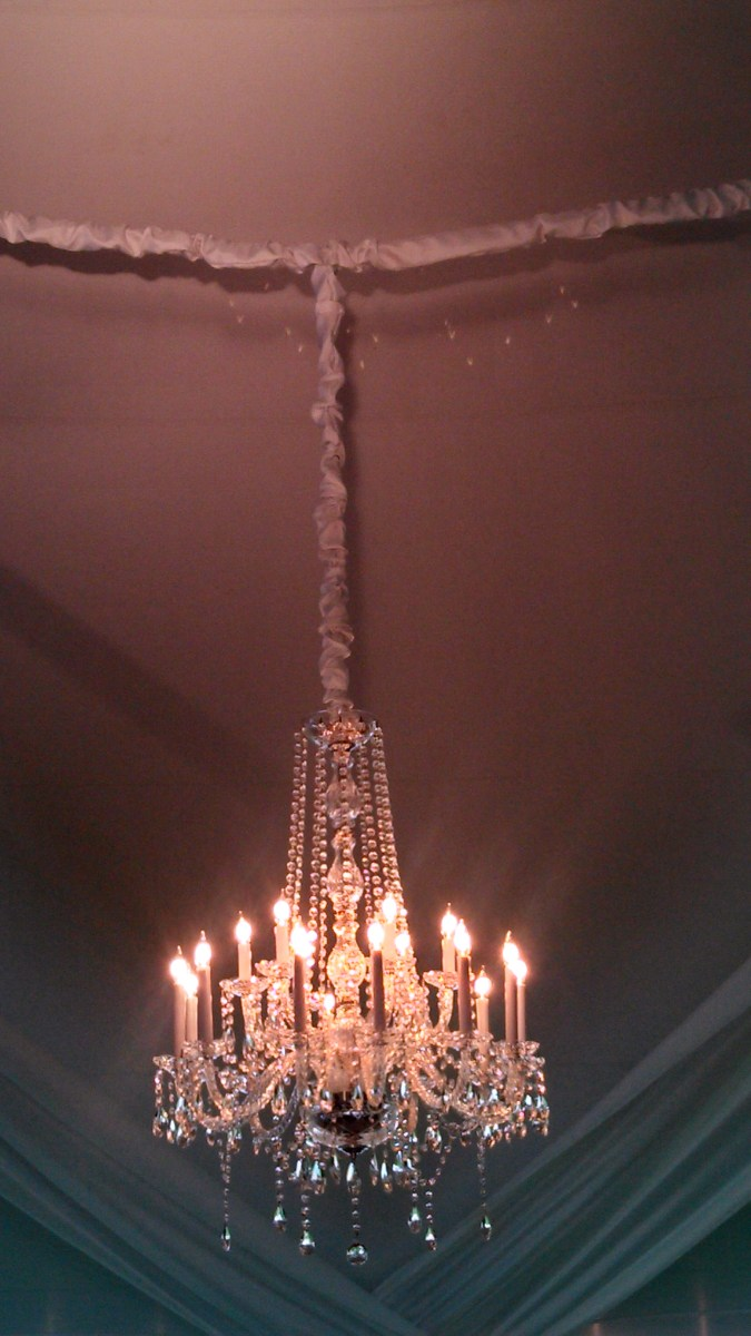 Chandelier Chain Cover DIY