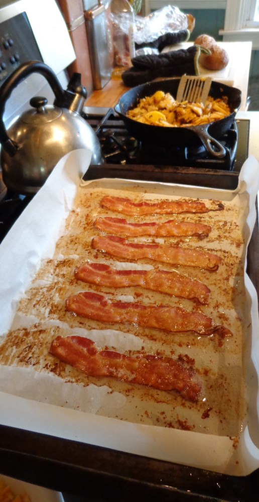 cooked bacon stovetop on Shalavee.com