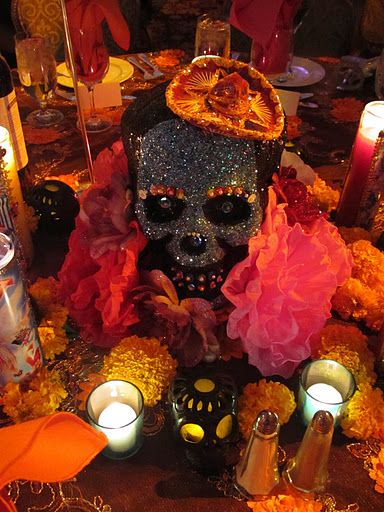 Martha Stewart style Day of the Dead party on Shalavee.com