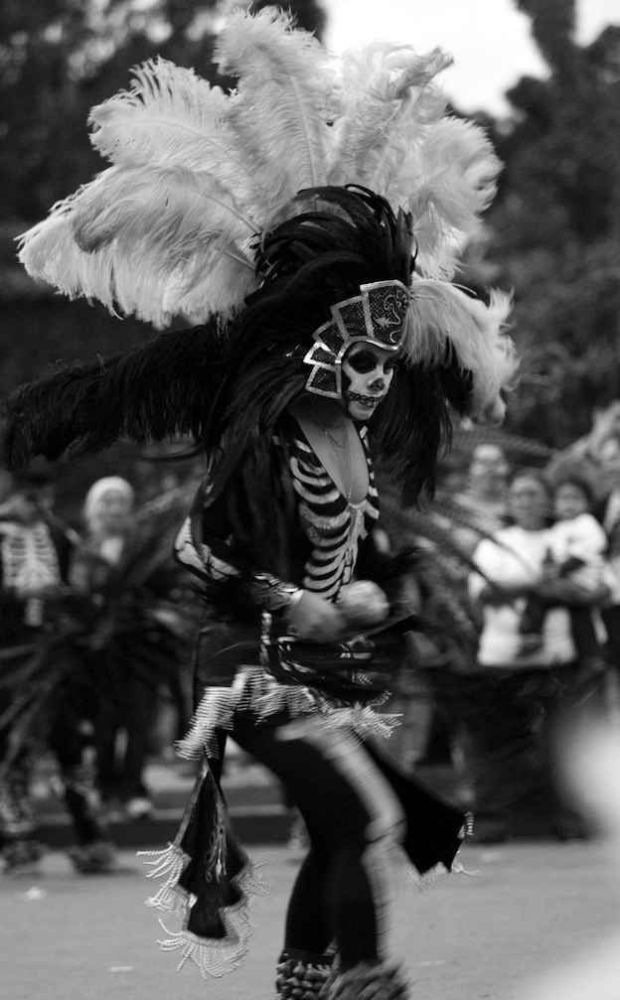 black and white day of the dead on Shalavee.com