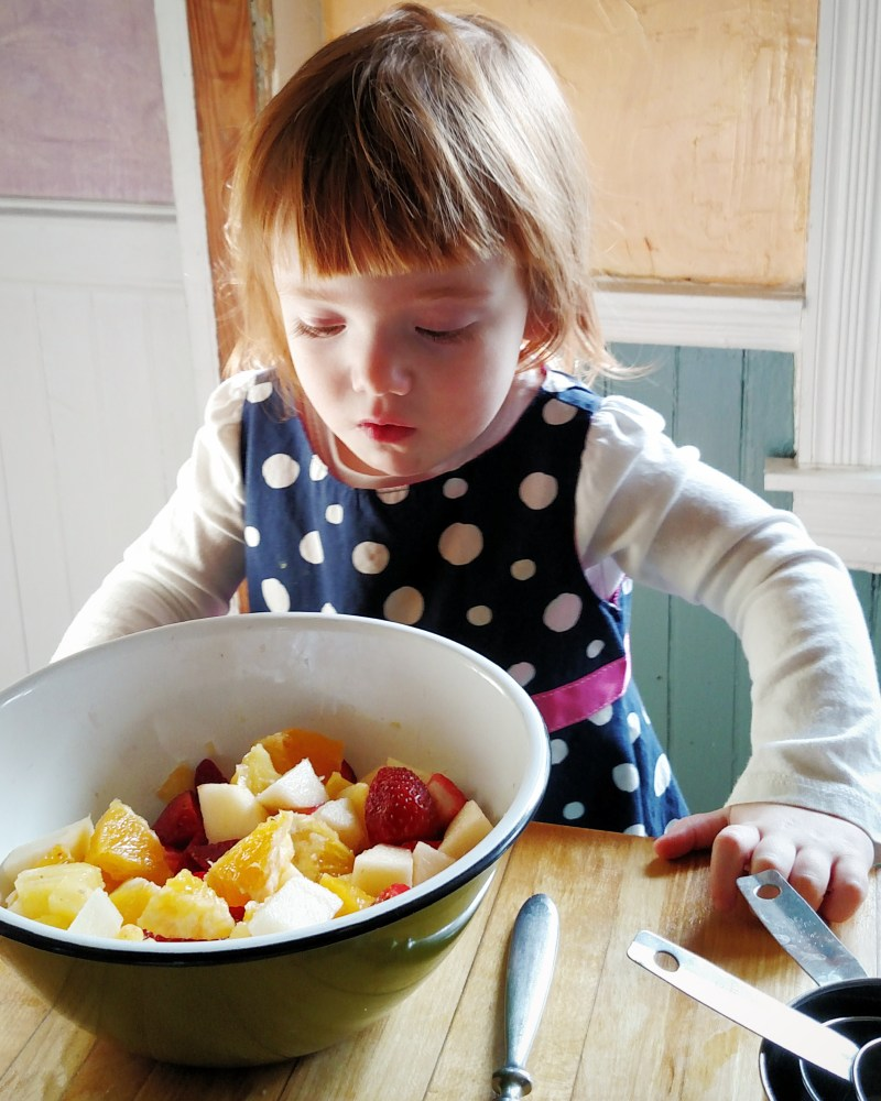Fiona  and the fruit salad on Shalavee.com