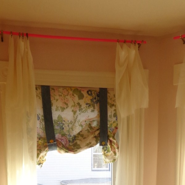 Pink Curtain Rods For a Prettier Window